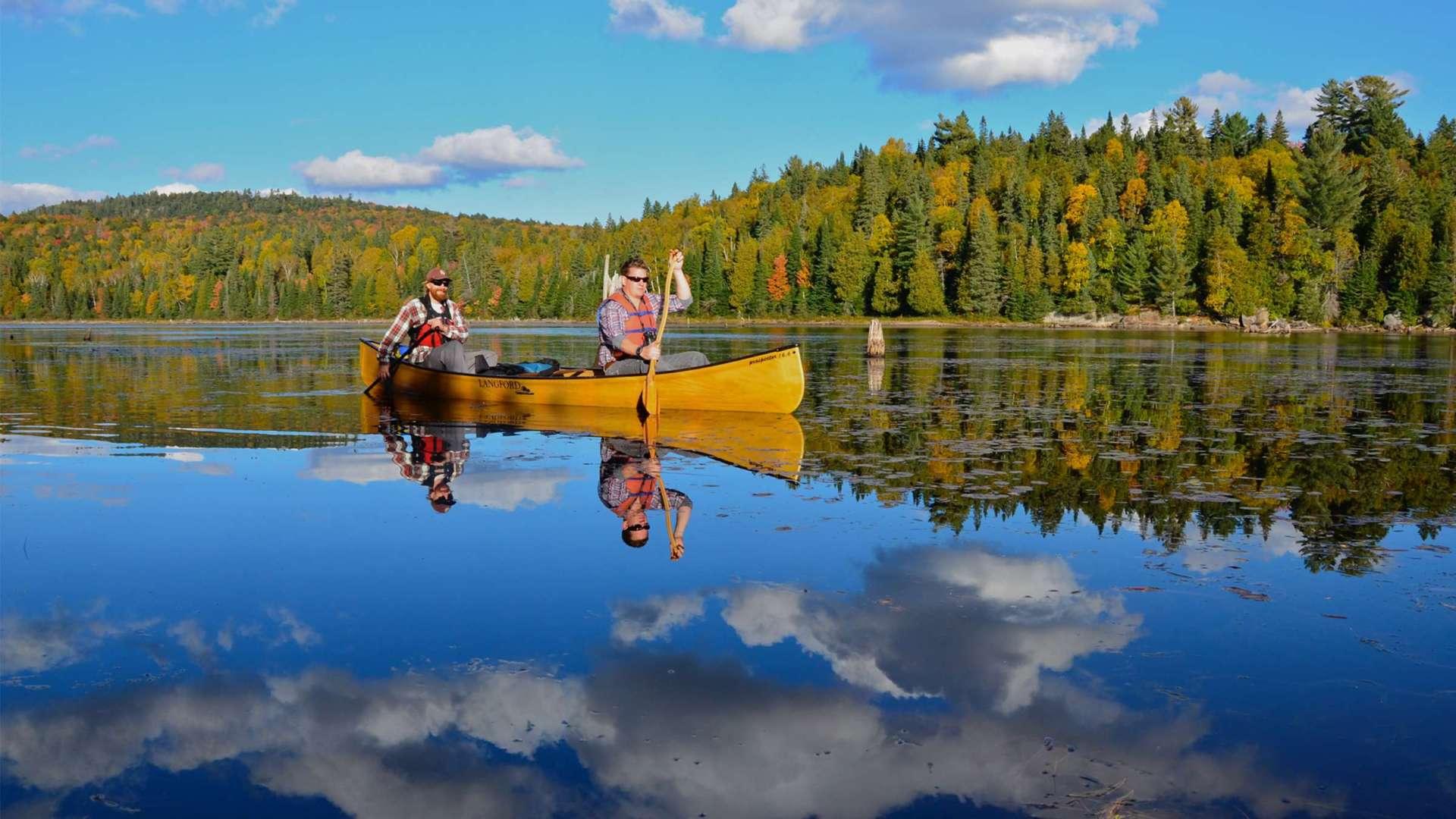 Blog image - canoeing in Algonquin