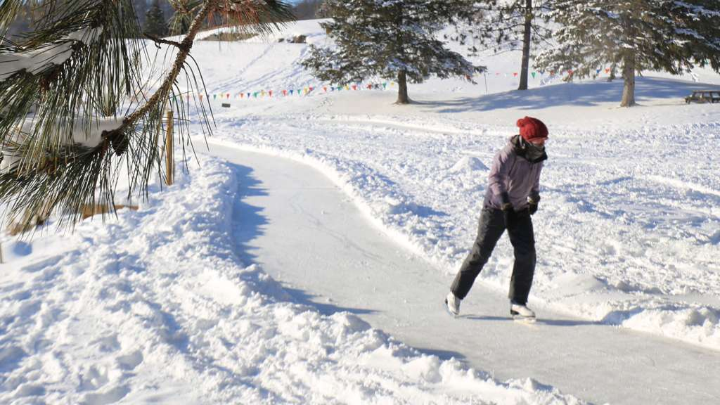 NEW! Ice Skating Trail at Deerhurst Resort