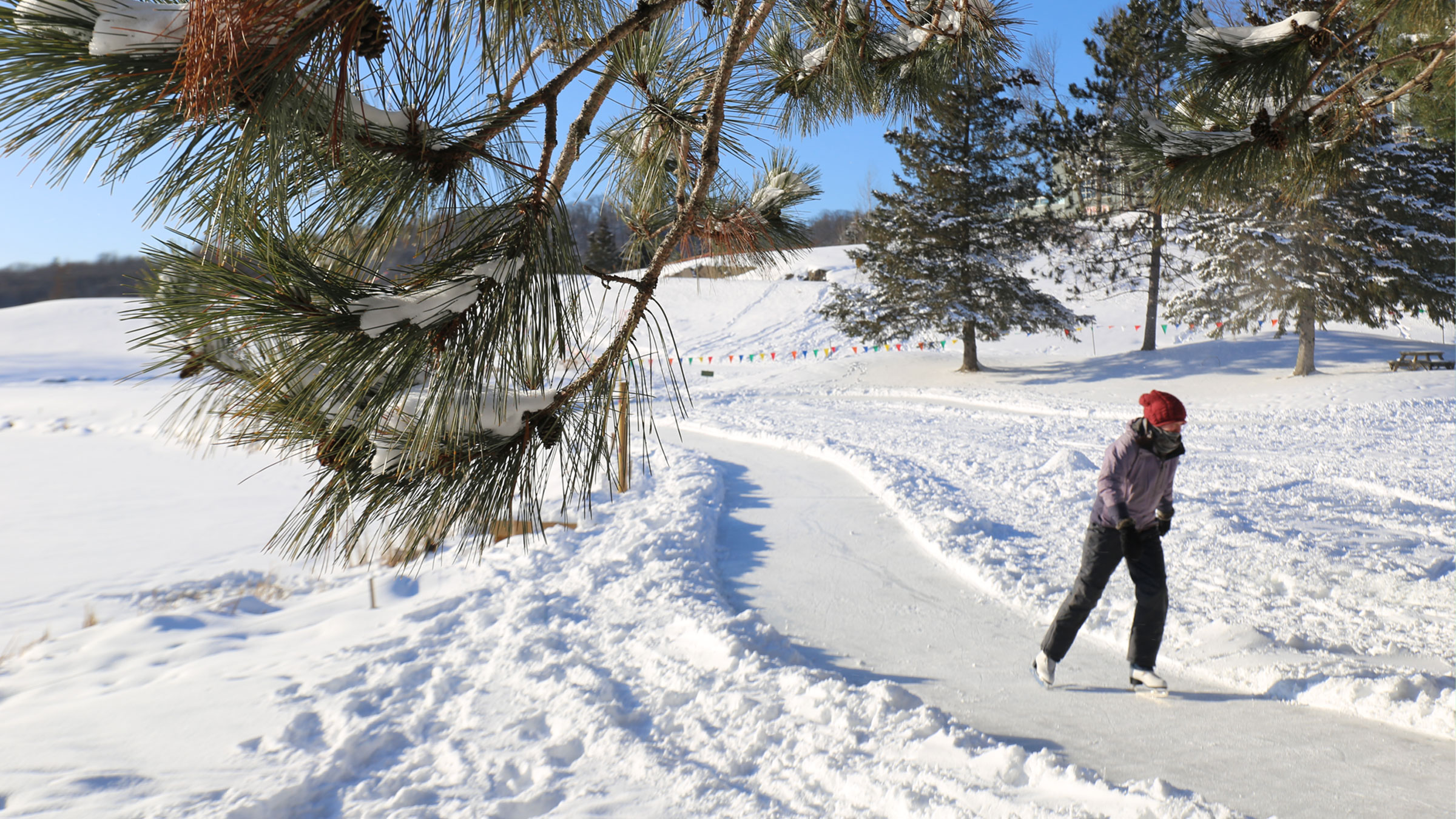 NEW! Ice Skating Trail at Deerhurst Resort