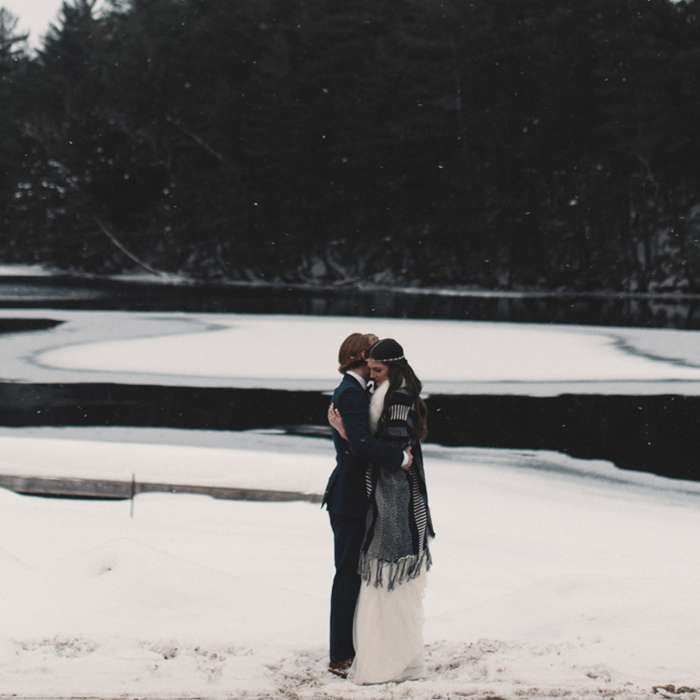 A Winter Wedding in Muskoka Worth Swooning Over