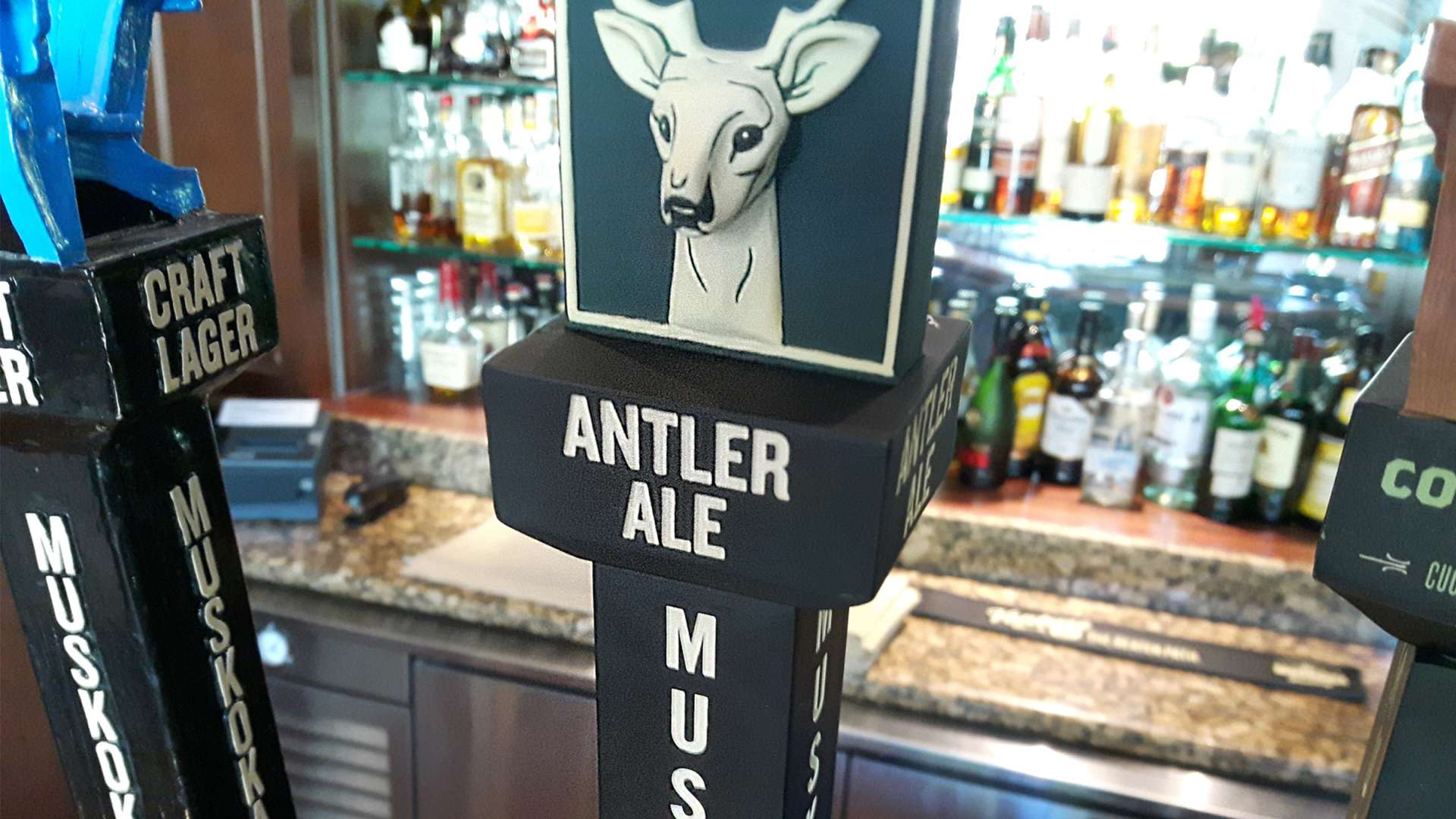 Antler Ale, our new house craft beer developed in partnership with Muskoka Brewery, is the perfect brew for summer days in Muskoka.
