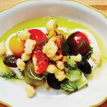 Chuck Hughes' Fried Feta Salad