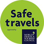 Safe Travel Stamp Logo